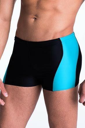 Pánské plavky boxerky Mike s modrým  pruhem