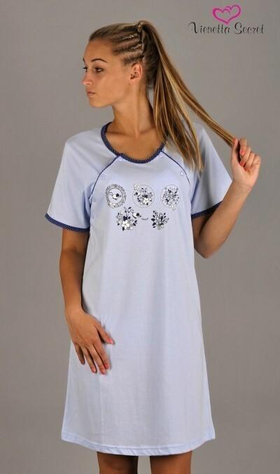 Dámská noční košile mateřská Květy