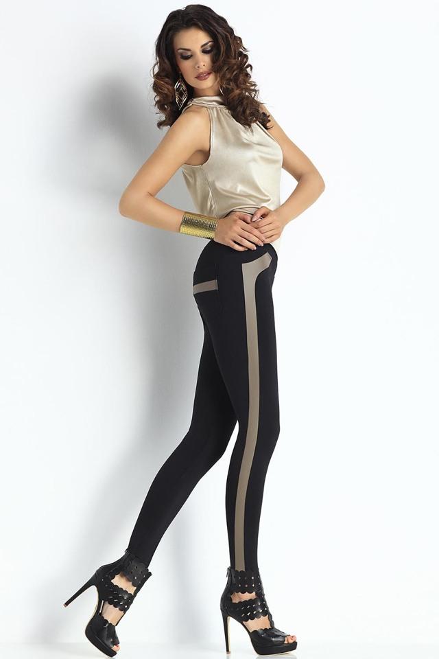 Dámské legíny Trendy Legs Plush Evelin - S - černá