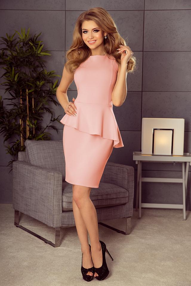 0c34111a2d64 Asymetrické dámské šaty v cukrově růžové barvě 178-4(1058711) - 3