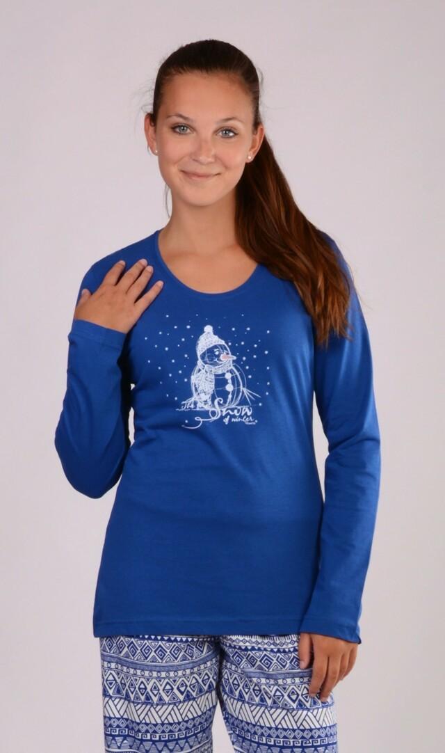 Dámské pyžamo dlouhé Sněhulák