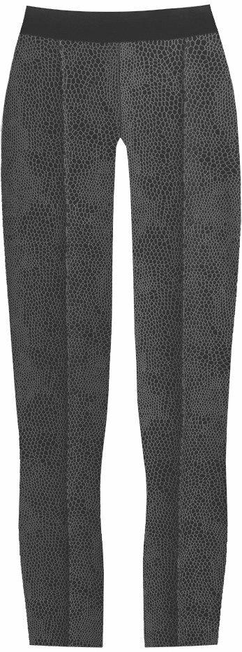 Černé lesklé dámské legíny se zvířecím vzorem (318/2ART) - XL (42) - černá