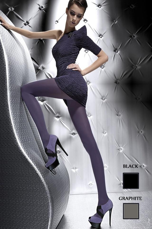 Punčocháče zimní Roza black - 2 - černá