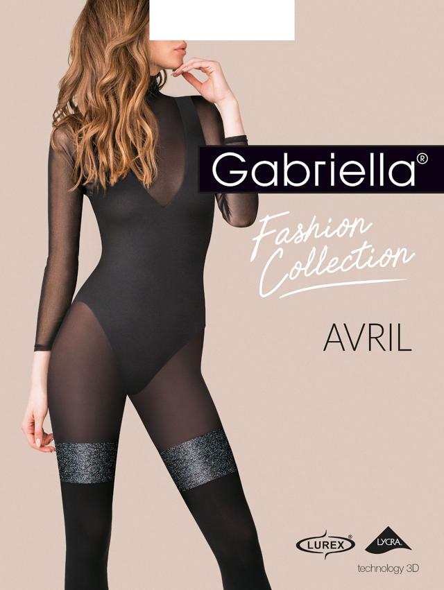 Dámské punčochové kalhoty Gabriella Avril 3D 422 5XL - 5-XL - černá