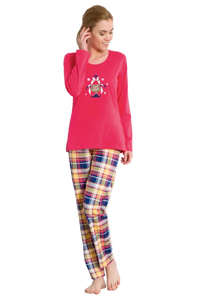 Dámské pyžamo Amanda červené - L