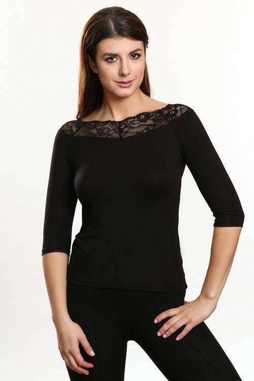 Dámská halenka Violana Olimpia black - 3/4 rukáv - S - černá