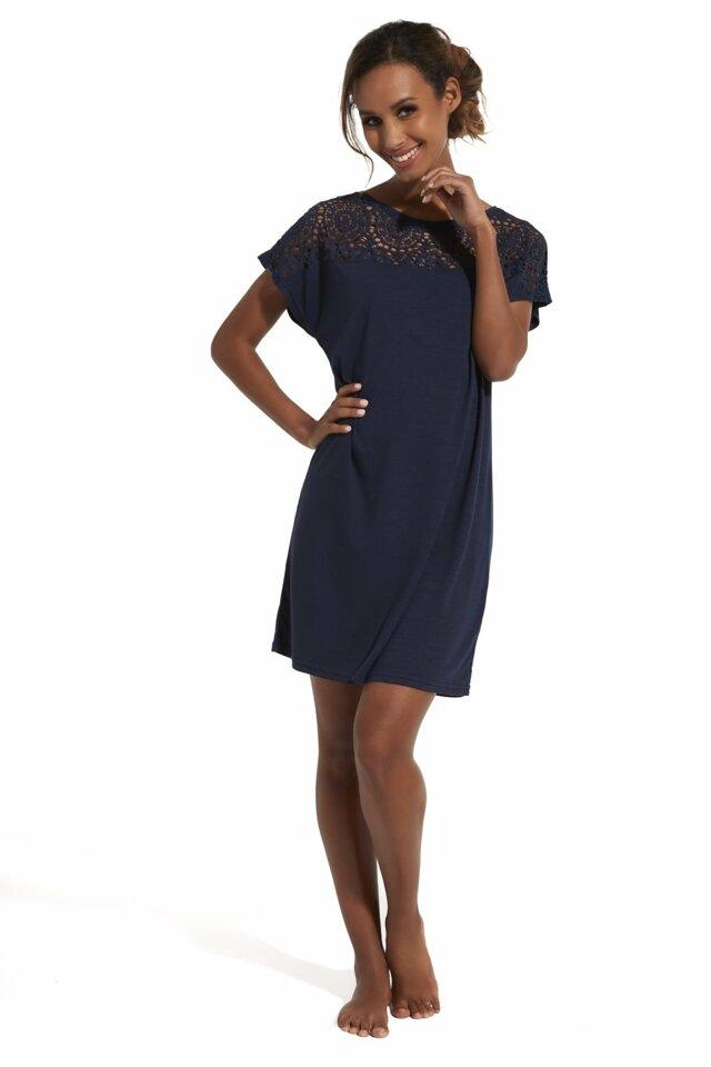 Noční košile 152/146 Natalie - S - tmavě modrá