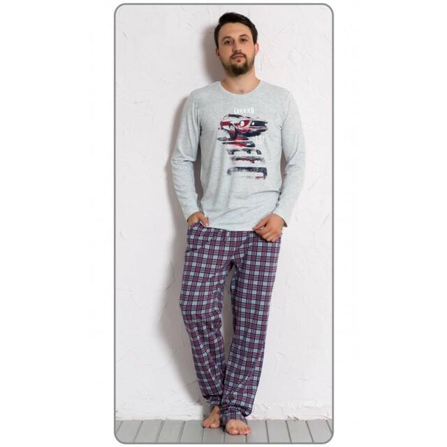 Pánské pyžamo 5087 - Gazzaz - L - šedá
