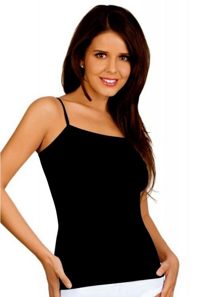 Dámská košilka Nata plus black - XXL - černá