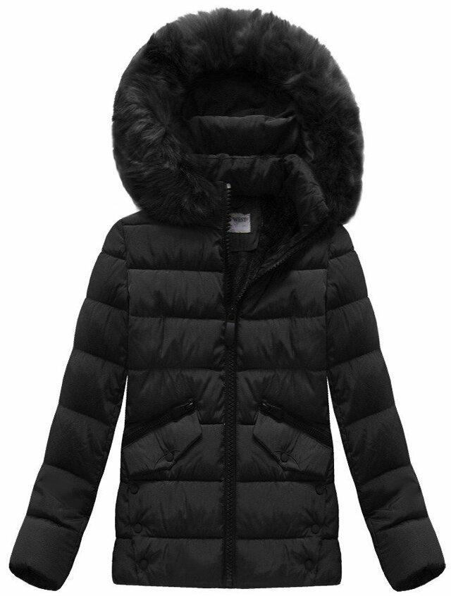 Černá dámská bunda prošívaná (B3570) - M (38) - černá 2dba321a237