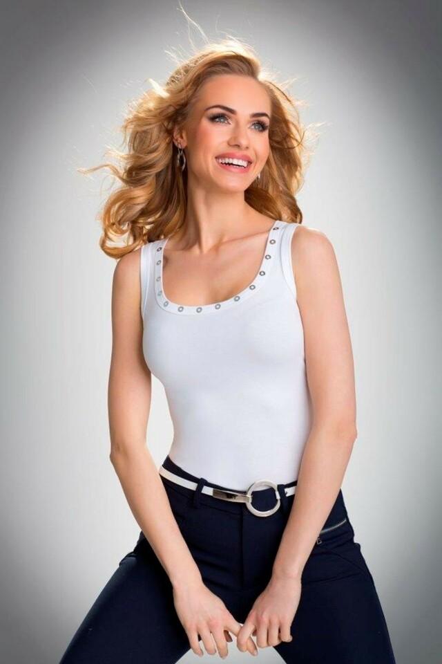Dámská košilka Kasandra white - XL - bílá