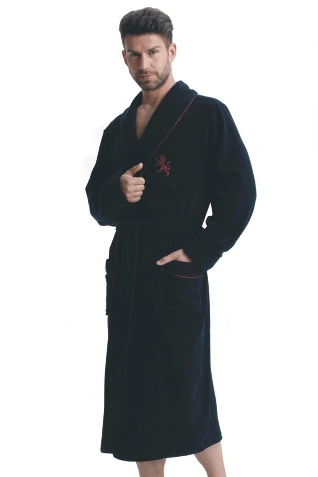 Pánský župan Lukas tmavě modrý - L