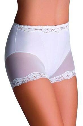 Stahovací kalhotky s nohavičkou Lara bílé - S