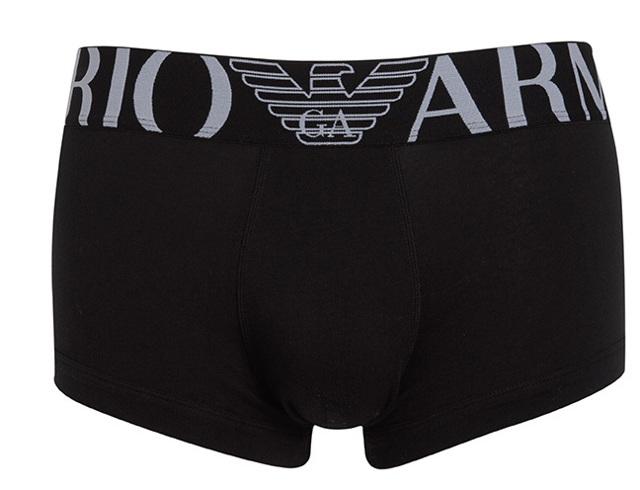Boxerky 111389 CC716 00020 černá - Emporio Armani - XL - černá