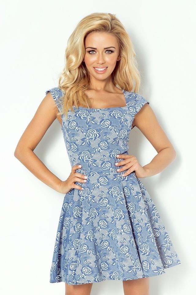 Dámské šaty 58-4 - L - tmavě modrá