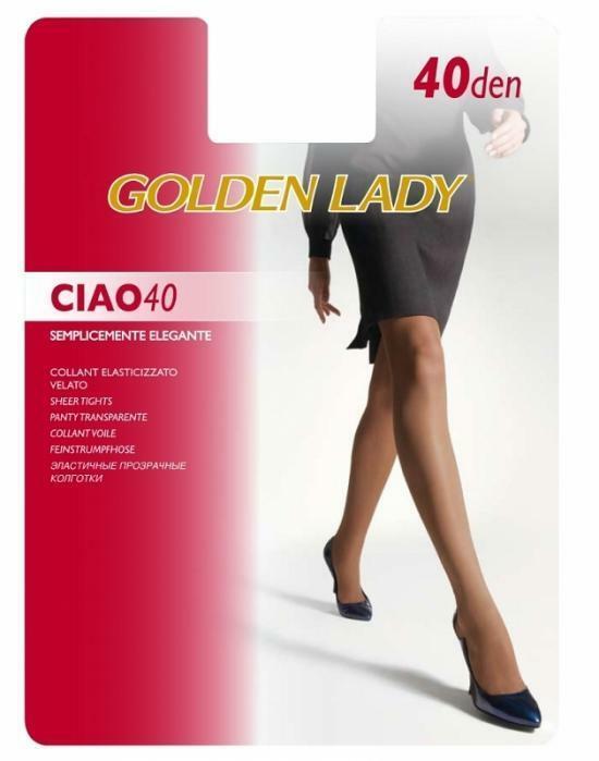 Punčochové kalhoty Golden Lady Ciao 40 den - 5-XL - černá