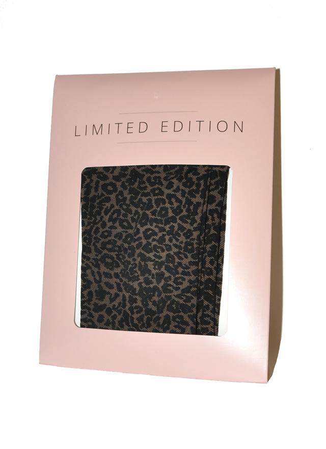 Dámské punčochové kalhoty Fiore Limited Edition Panterka 60 den - 4-L - nude-black/béžová-černá