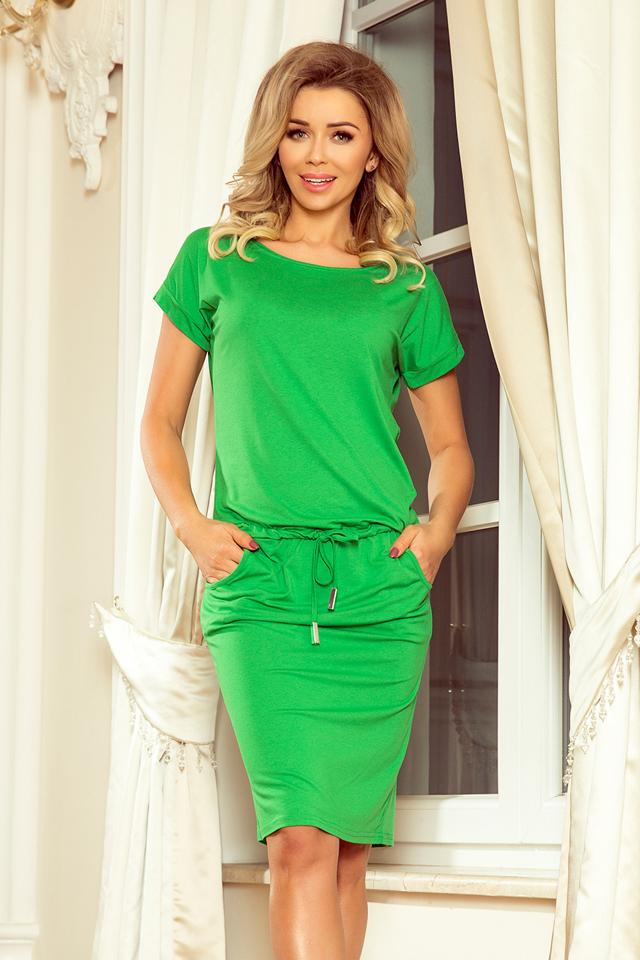 bffbd32fc46b Zelené dámské sportovní šaty s krátkými rukávy 56-6 - L