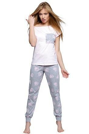 Dámské pyžamo Isidora srdíčka - XL