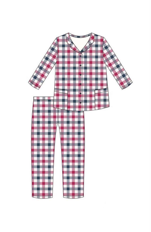 Dámské pyžamo Cornette 682/179 Jenny S-2XL - M - růžová