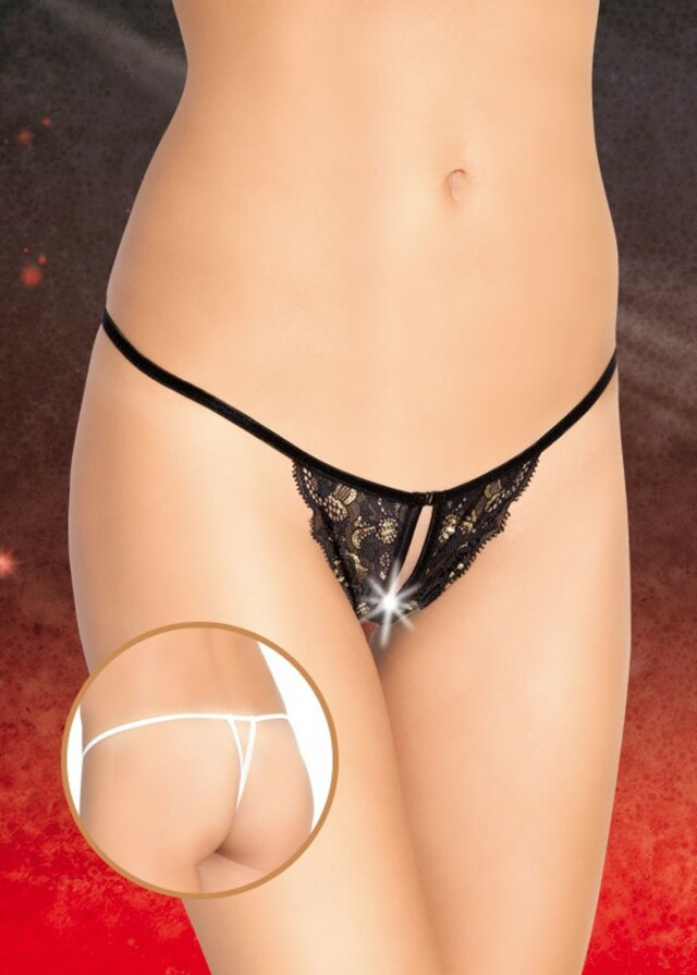 Erotická tanga 2373 - S/L - černá