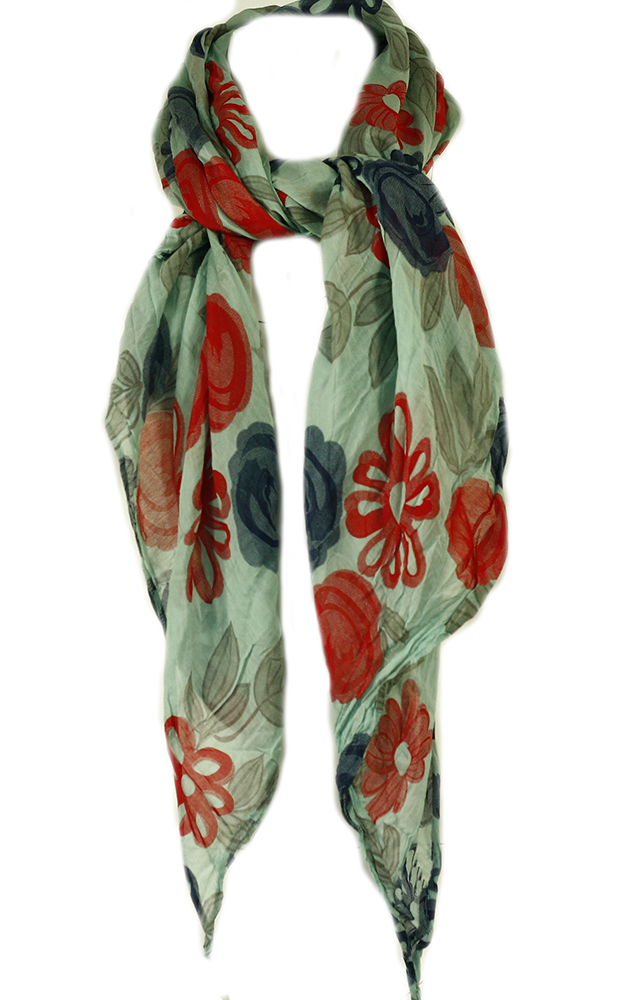 Šála s květinami - Pronto Moda Italia - uni - vícebarevná