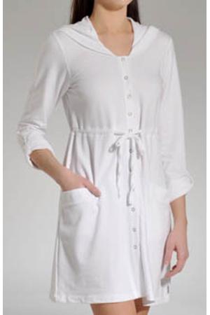 Dámský dlouhý župan YI2913044 - DKNY - XS - bílá