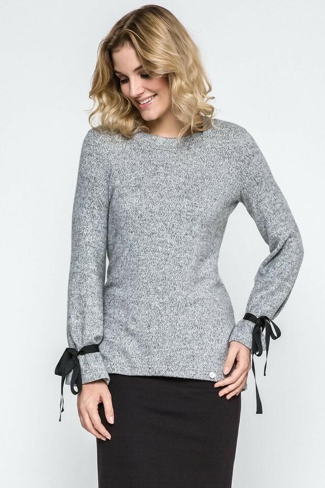 Dámský svetr Ennywear 240083 - 36 - šedá-žíhaná