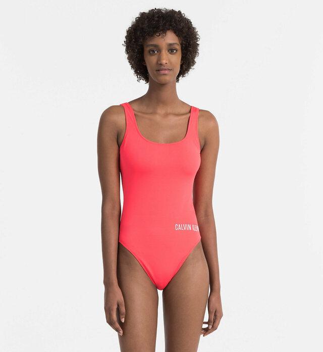 Jednodílné plavky KW0KW00293-044 červená - Calvin Klein