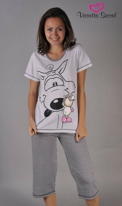 Dámské pyžamo kapri Vlk a ovce