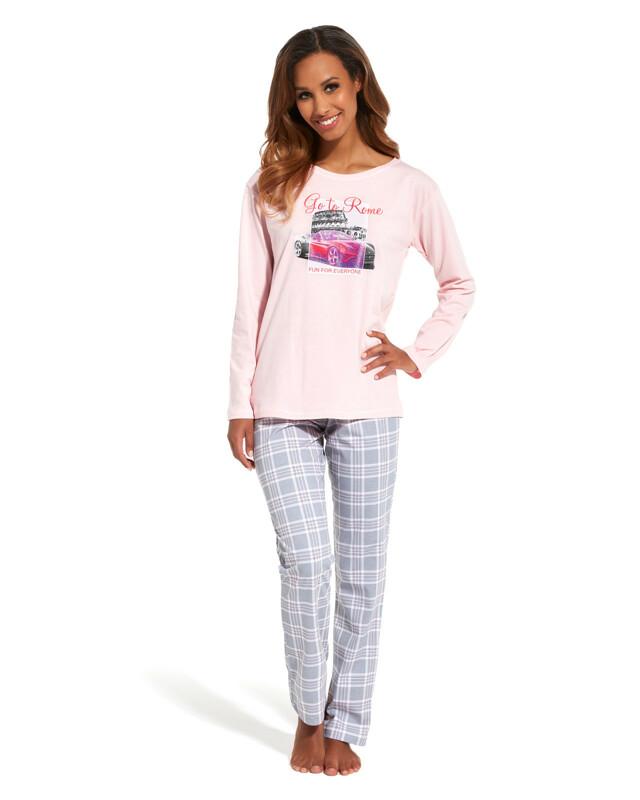 Dámské pyžamo Cornette 655/126 Go To Rome dl/r N - L - růžová