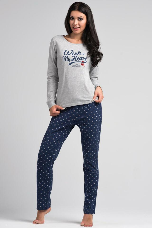 Dámské pyžamo Rossli SAL-PY 1025 - XL - světle šedá