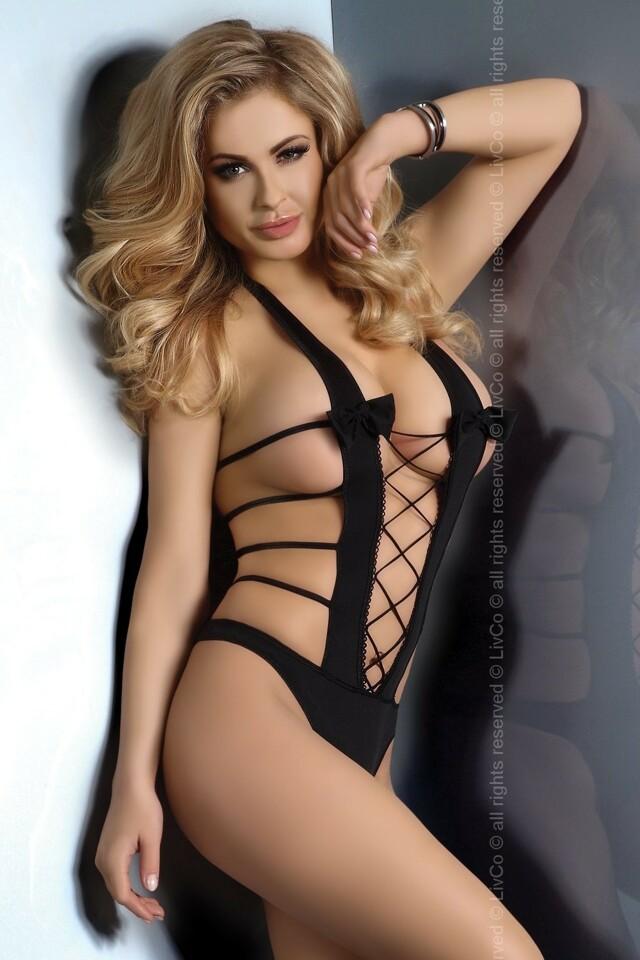 Erotické body Dallas - L/XL - černá