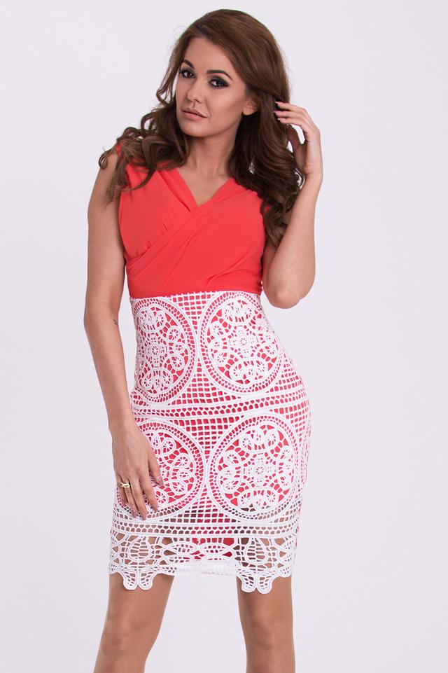 b9557c34c1b3 Růžové dámské šaty EMAMODA 15005-2 - L