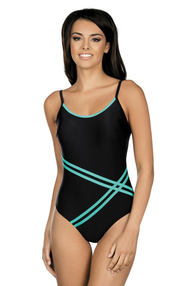 Dámské jednodílné plavky Stripes černé - S