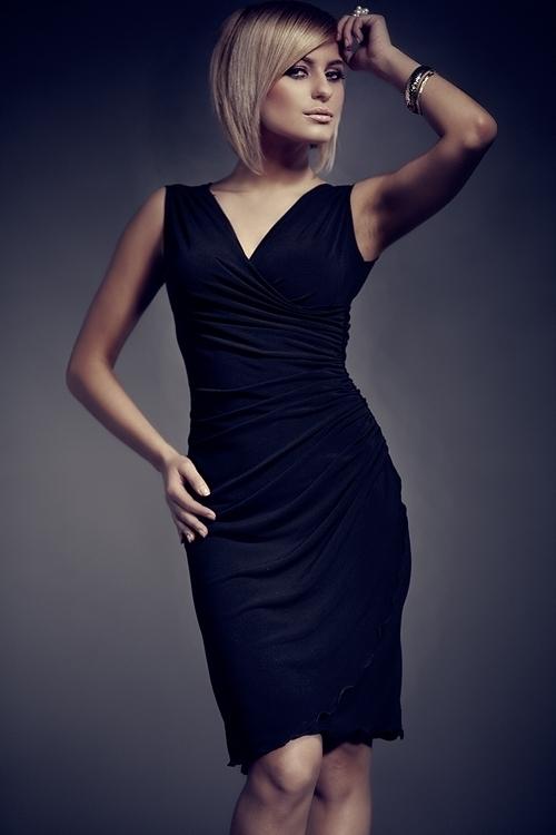 4094b0771d4 Dámské šaty M053 black - S - černá
