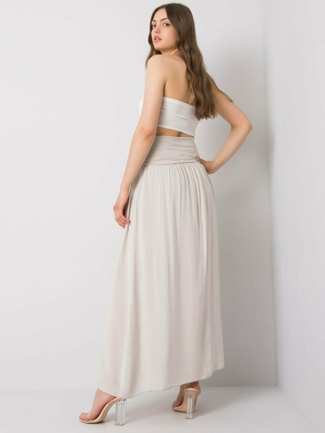 OH BELLA Béžová dlouhá sukně - S