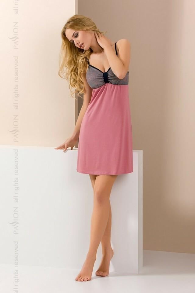 Noční košile Passion PY046 - M - růžová
