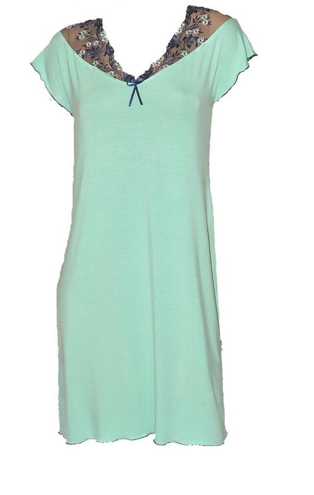 Noční košilka s krátkými rukávy CLARISSE 381 - růžová - M