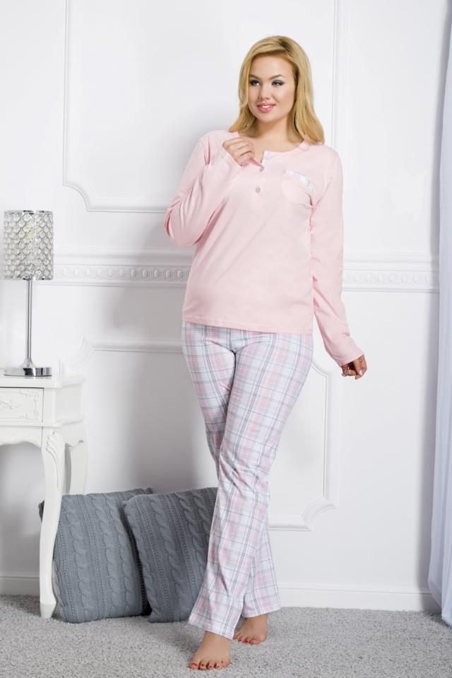 Dámské pyžamo 2006 Gizela 03 light pink - 3XL - lososová