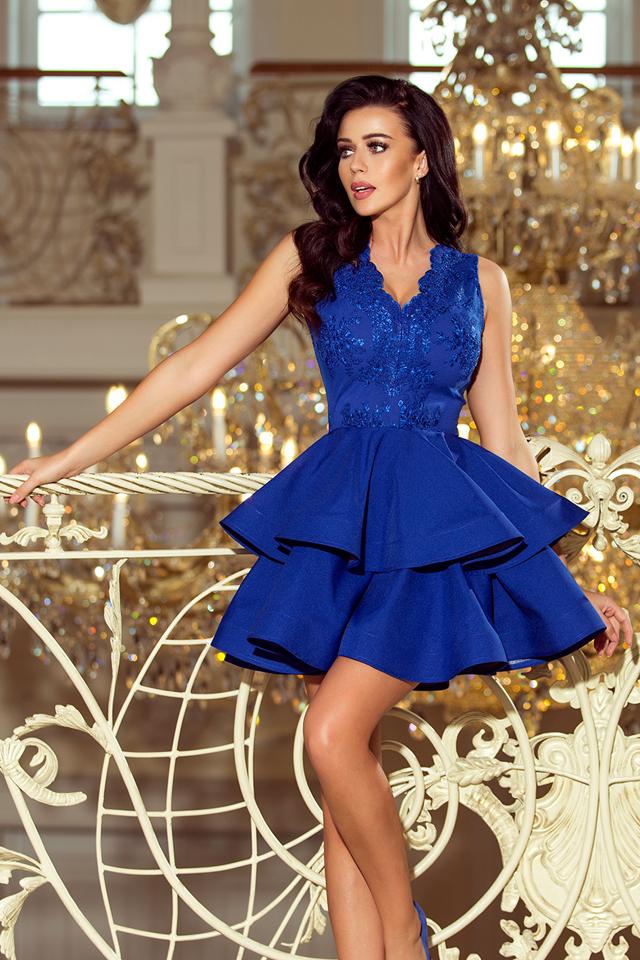 bfe9cdc52831 Dámské šaty 200-7 - L - modrá