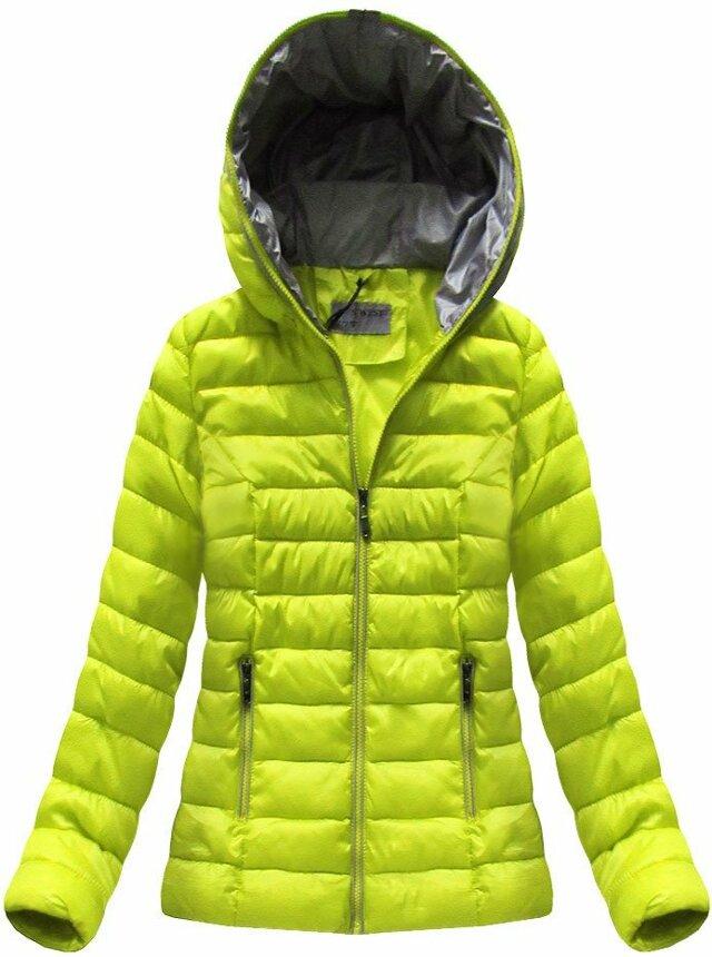 70609f3aa Limetková dámská přechodová bunda (B7013) - S (36) - žlutá
