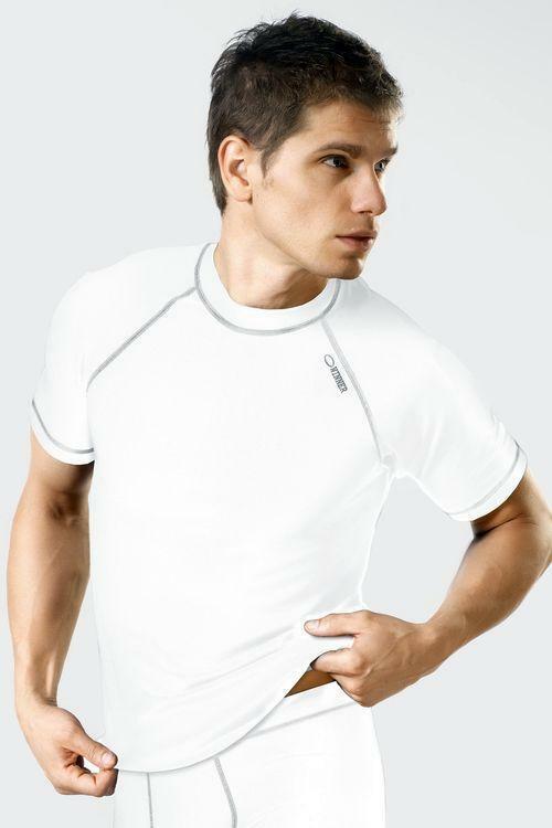 Pánské triko Classic V white - S - bílá