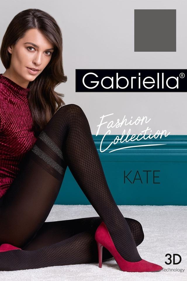 Punčochové kalhoty 3D Kate 447 - Gabriella - 4-L - černá