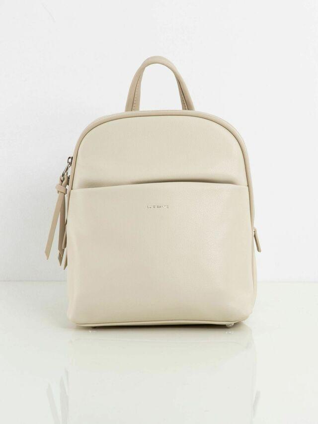 Dámský batoh s kapsou ve světle béžové barvě - jedna velikost