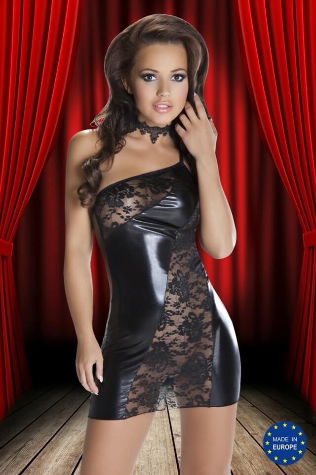 Erotické šaty Sila - S/M - černá