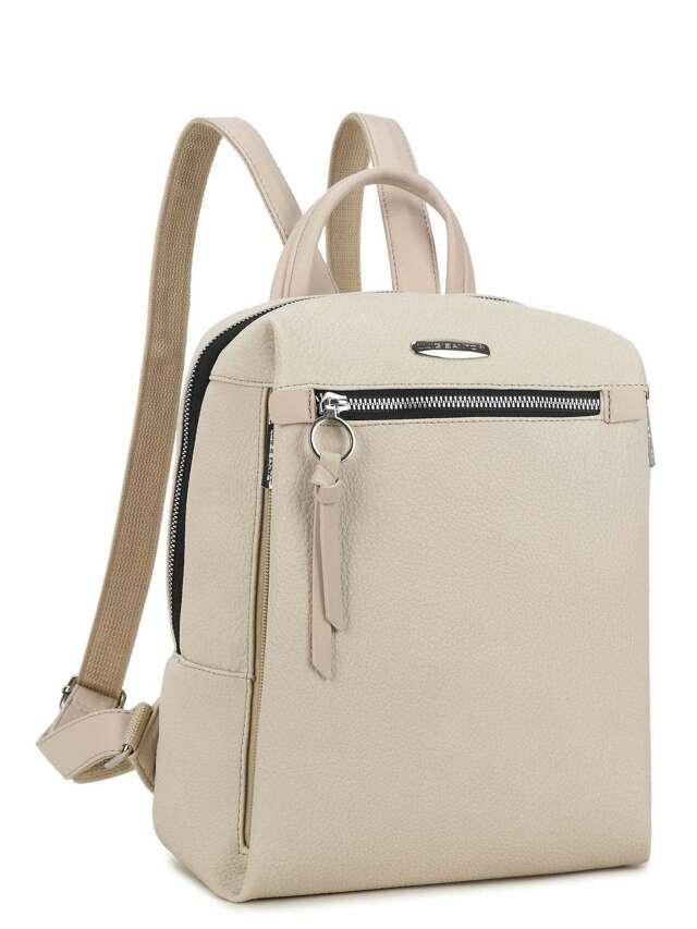 LUIGISANTO Béžový batoh vyrobený z ekologické kůže - jedna velikost