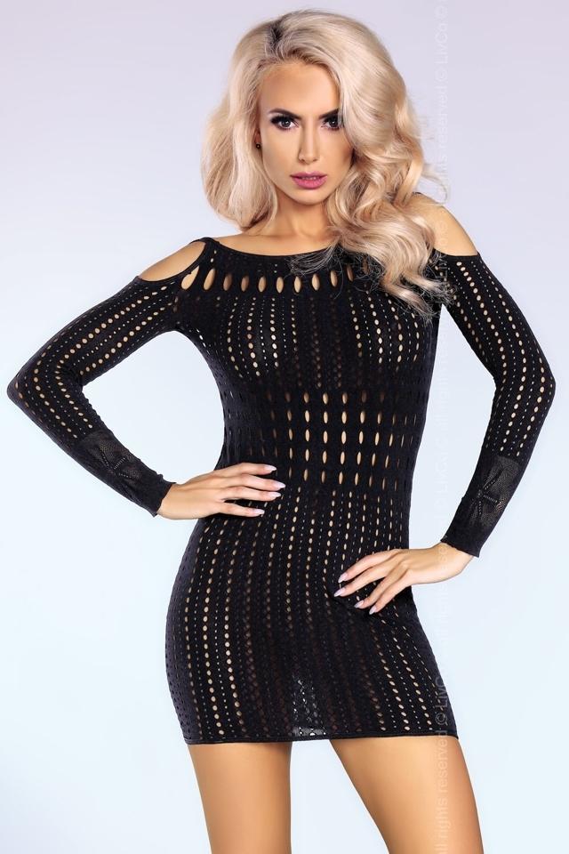 Erotické šaty Kamryn - S/L - černá