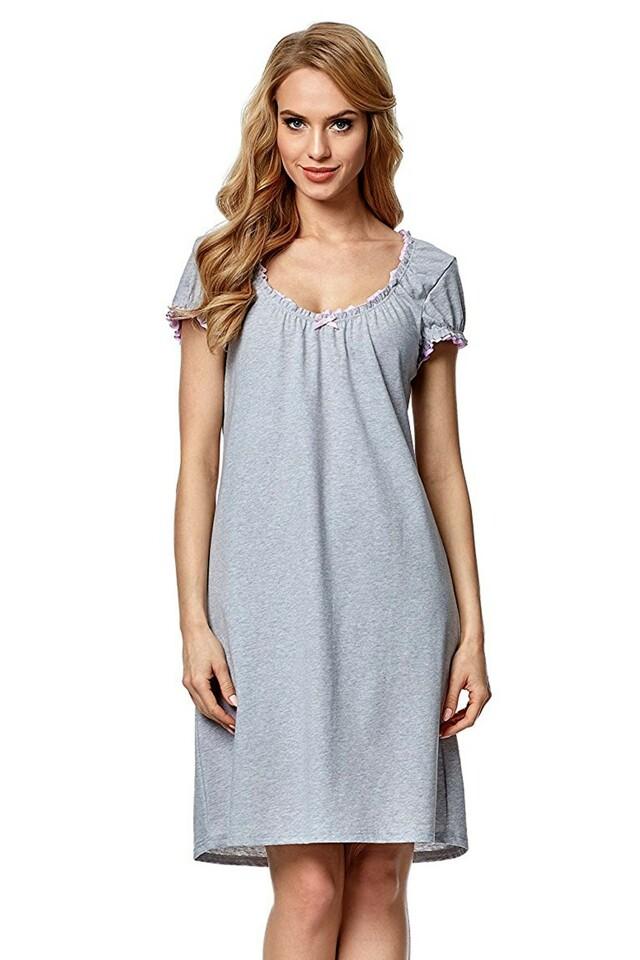 Noční košile Dorita II melange-pink - M - viz foto