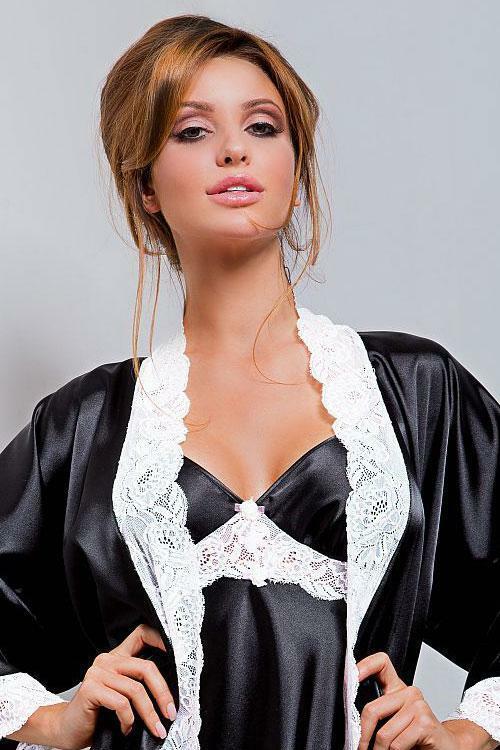 Dámský župan Hamana Ariadna gown black - L/XL - černá